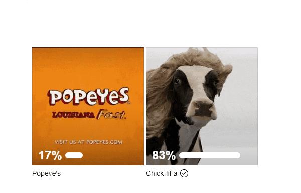 poll chick-fil-a vs popeyes