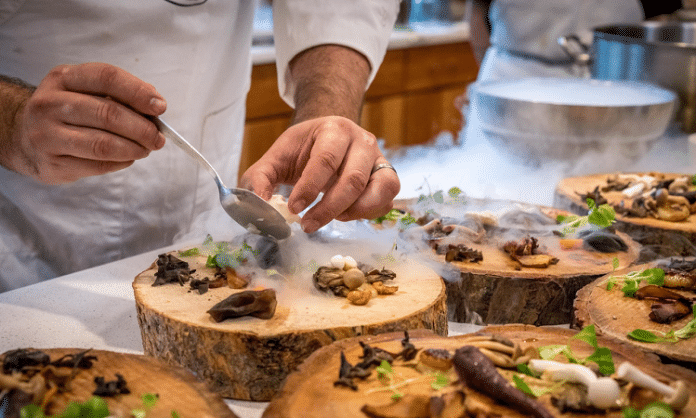 chef preparing meal dallas