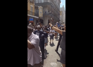 cowboys fans new orleans parade 2019