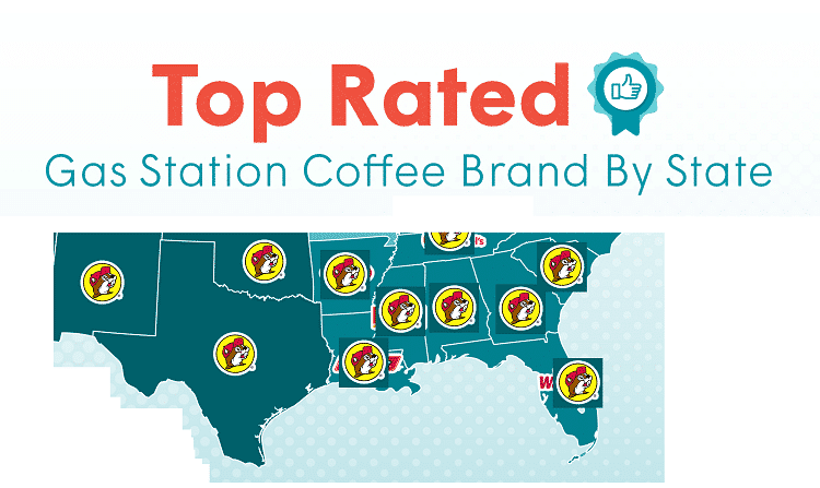 gasbuddy best gas station coffee in the south 2025
