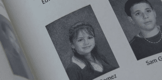 selena gomez middle school yearbook photo