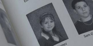 selena gomez middle school yearbook photo
