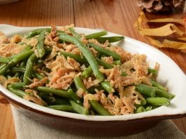 green bean casserole on table