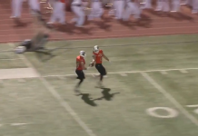 ut permian basin linebacker giving football to senior to score touchdown