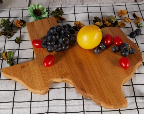 Wooden Texas shaped cutting board