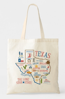 Texas illustration tote