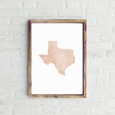 watercolor print Texas watercolor art painting