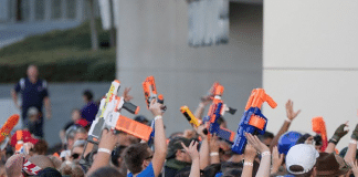 worlds largest nerf gun battle arlington, tx
