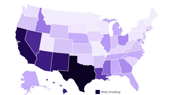 map of what states drank the most during covid19 pandemic
