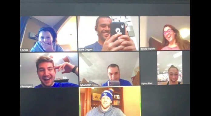 jj watt on a zoom chat with fans