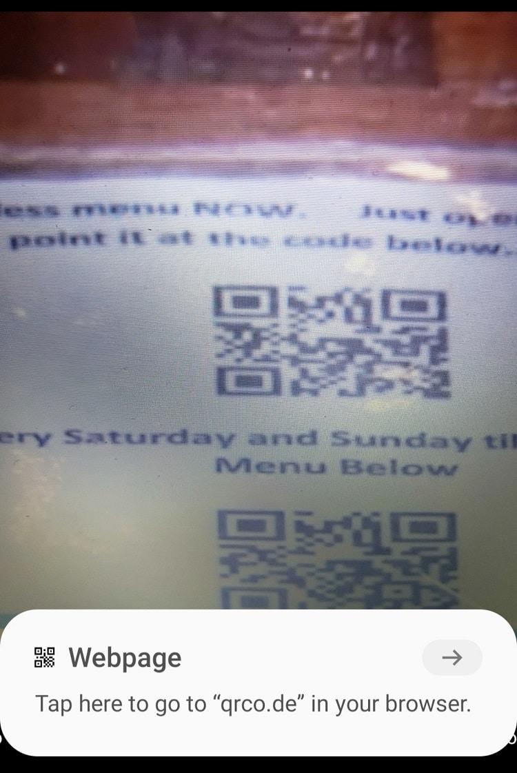 reservoir fort worth contactless qr code menu smartphone screenshot