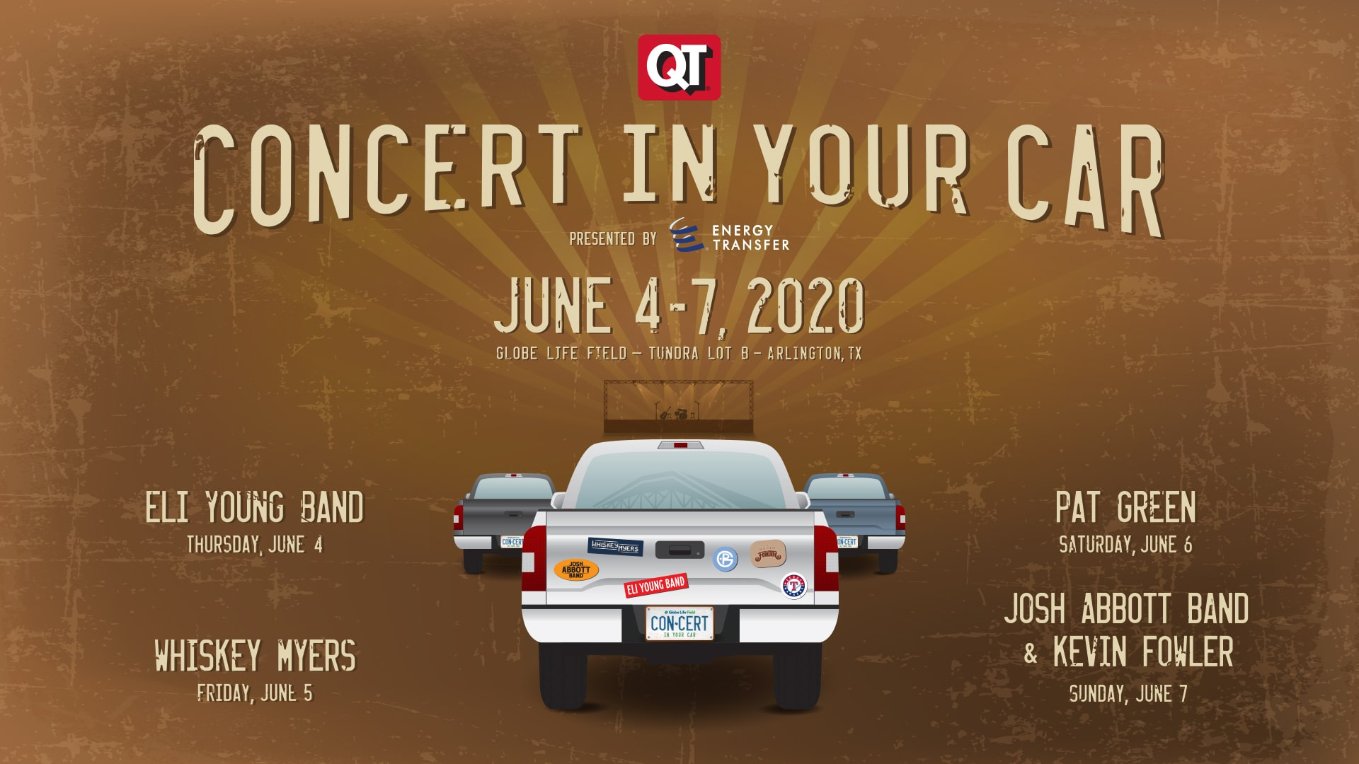 texas rangers concert in your car series