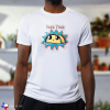 taco time white t-shirt on male model with dark skin