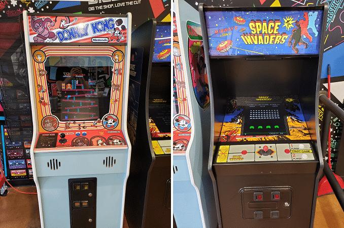 diesel barbershop dallas arcade games space invaders donkey kong
