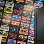 cassette tape wallpaper at diesel barbershop