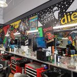 barber stations at diesel barbershop in dallas