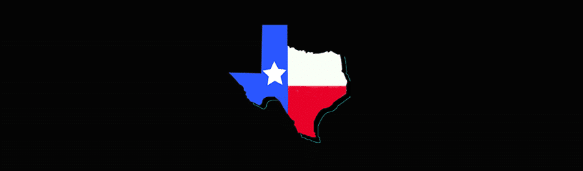 texas is life state of texas flag on black