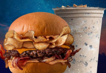 mooyah campfire burger and s'mores shake