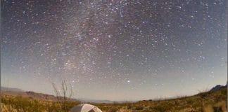 big bend desert and stars