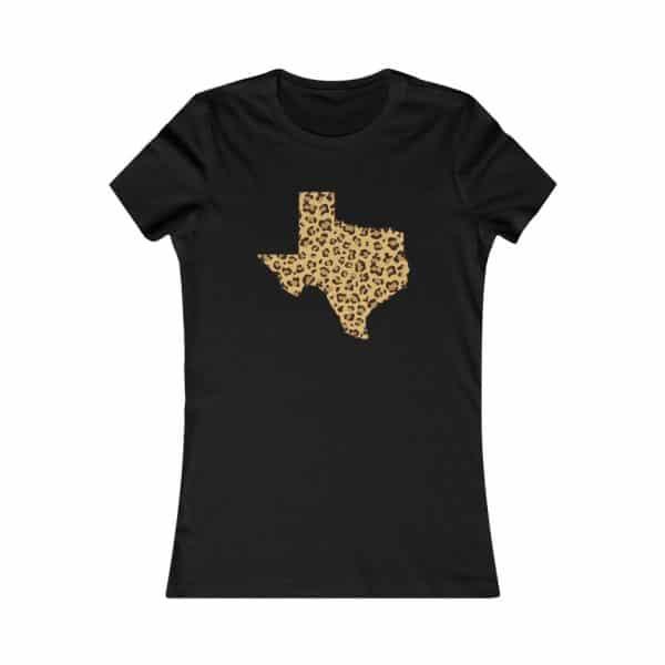 texas shape leopard print t-shirt