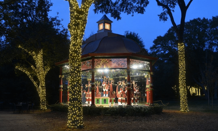 dallas arboretum 12 days of christmas at night event