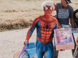 spider-man santa in dallas, tx