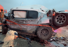 crushed toyota fj cruiser fort worth texas 2021 pileup