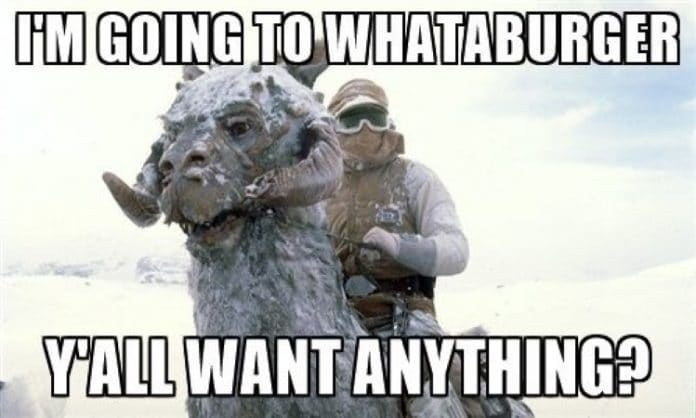 im going to whataburger y'all want anything hoth meme