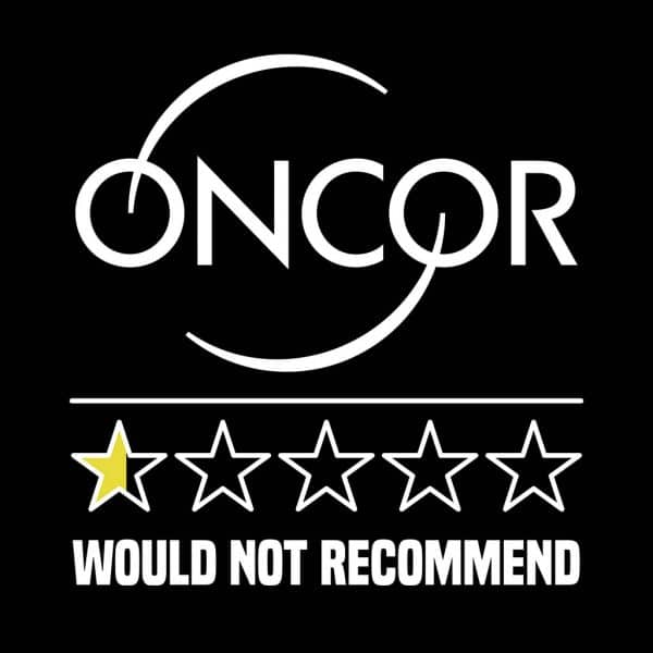 oncor review stars t-shirt design white text