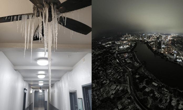 texas extreme winter photos and videos