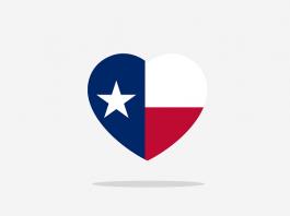 texas flag heart
