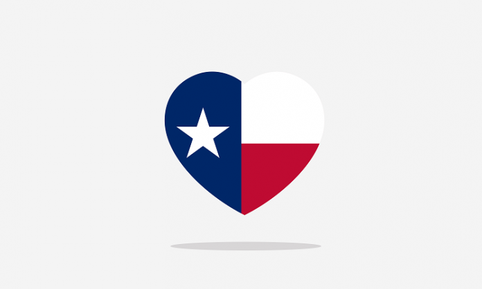 texas flag heart