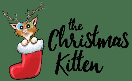 the christmas kitten logo