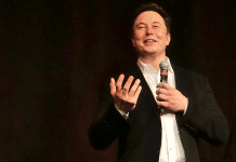 elon musk speaking on stage