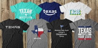 collection of texas is life t-shirts