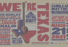 we're texas 2021 virtual benefit concert flyer