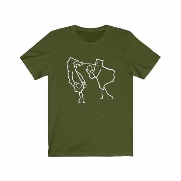 texas punching california t-shirt
