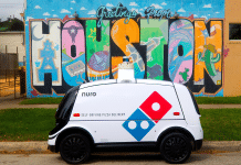 dominos automated nuro pizza delivery robot