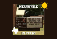 meanwhile in texas church sign meme about summer heat