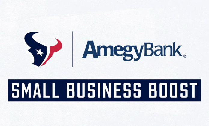 houston texans amegy bank small business boost logo