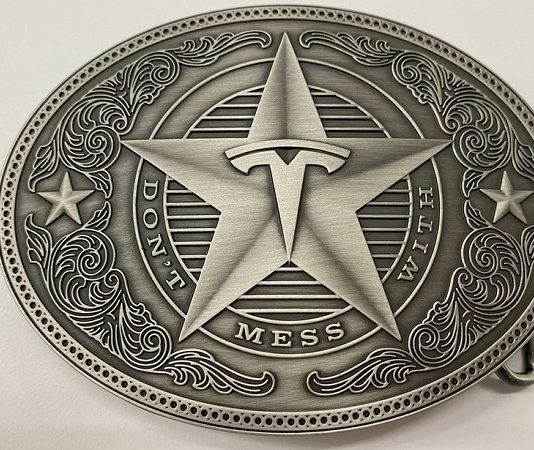 don't mess with tesla belt buckle