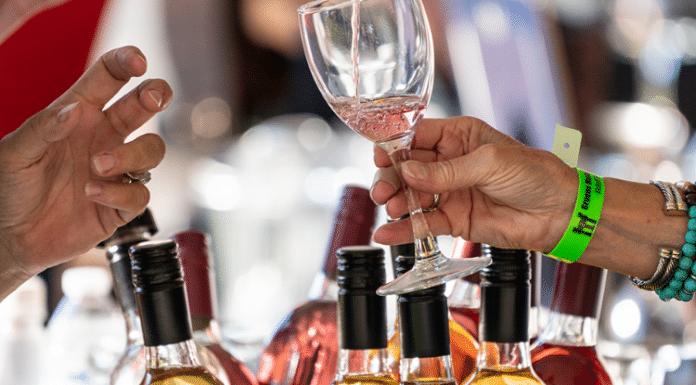 Gruene wine and food festival bucket of wine